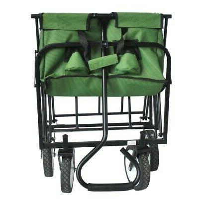 Collapsible Folding Wagon Cart Garden Portable