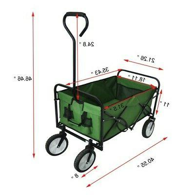 Collapsible Wagon Wagon Cart Garden Yard Portable