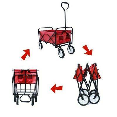 Collapsible Folding Wagon Beach Wagon Garden Portable