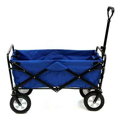 blue collapsible folding utility wagon