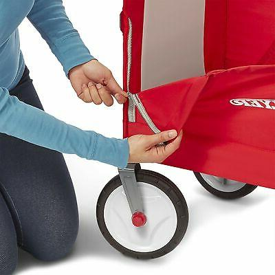 Brand Flyer 3-in-1 EZ Fold Wagon Ride On, Red