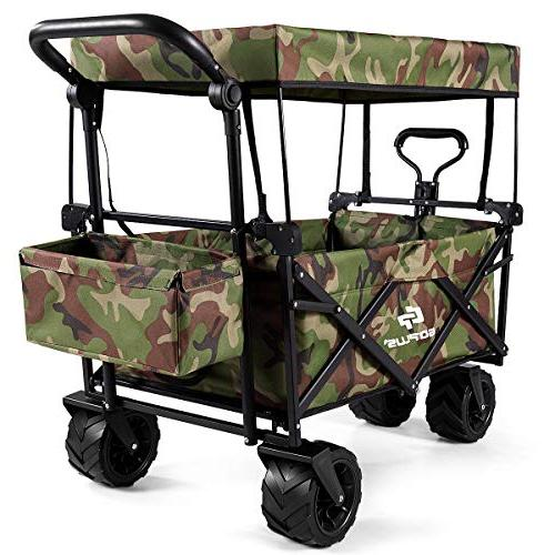 camouflage folding wagon cart collapsible