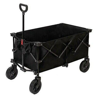 camping folding wagon large collapsible cart