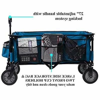 Camping Wagon Folding Cart Trolley Collapsible Heavy Duty Use