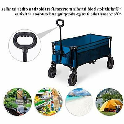 Camping Wagon Folding Cart Shopping Trolley Collapsible Heavy Duty Use
