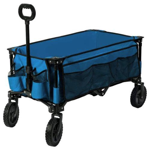 camping wagon folding garden cart shopping trolley