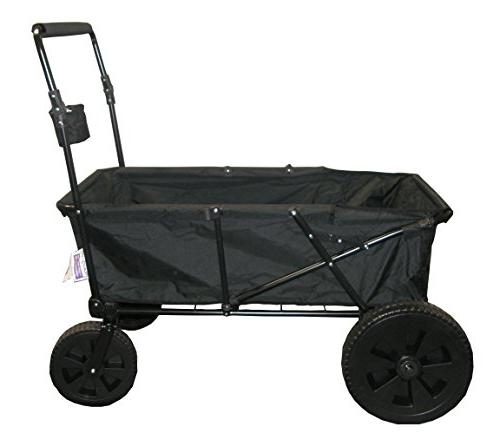 Impact Canopy Folding Wagon, Collapsible, All Maxima, Black
