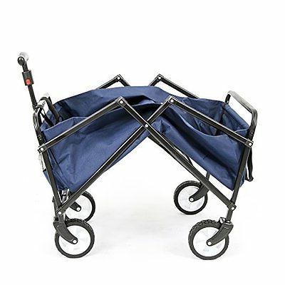 YSC Outdoor Carts Garden Utility Shopping Cart,Beach Red (Navy