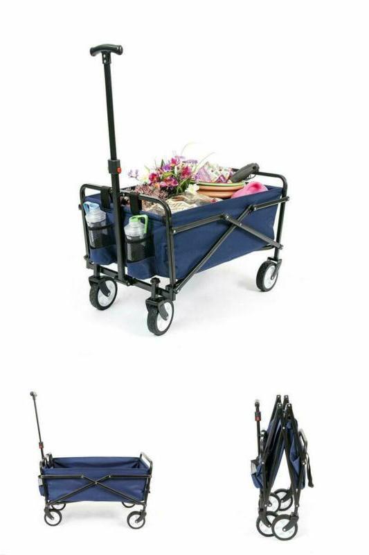 Collapsible Beach Folding Wagon Shopping Cart Outdoor