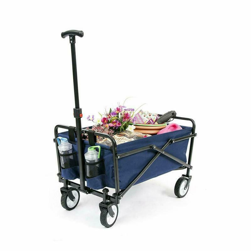 Collapsible Folding Wagon Utility Shopping Outdoor Cart
