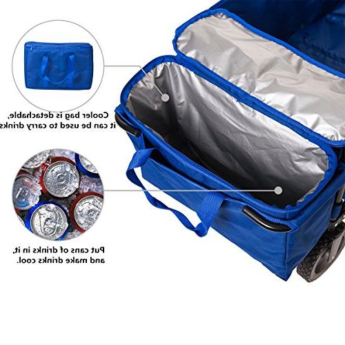 Timber Wagon Camping Utility Cart Bag for Outdoor up Blue,Heavy Duty