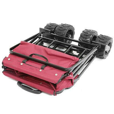Collapsible Wagon Cart with All Terrain Wheels,