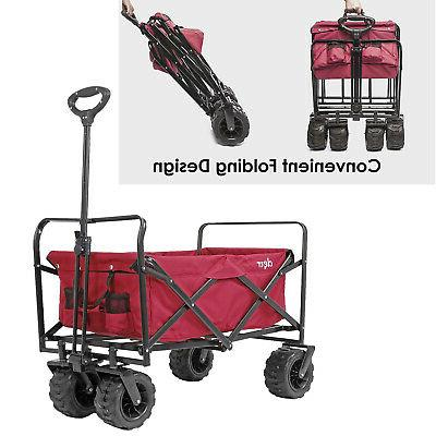 Collapsible Foldable Wagon Cart with Terrain