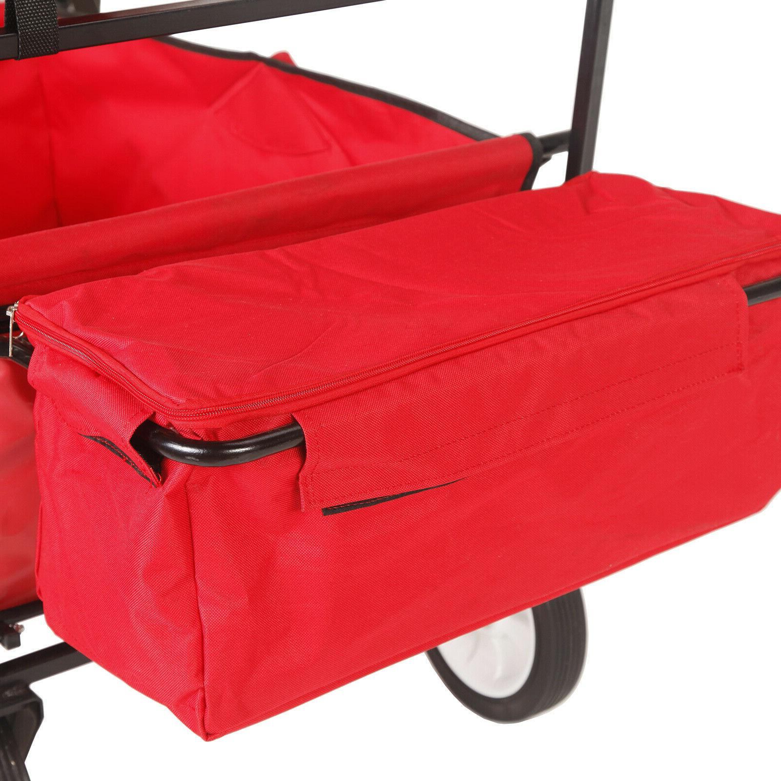 Collapsible Garden Camping Utility with Red