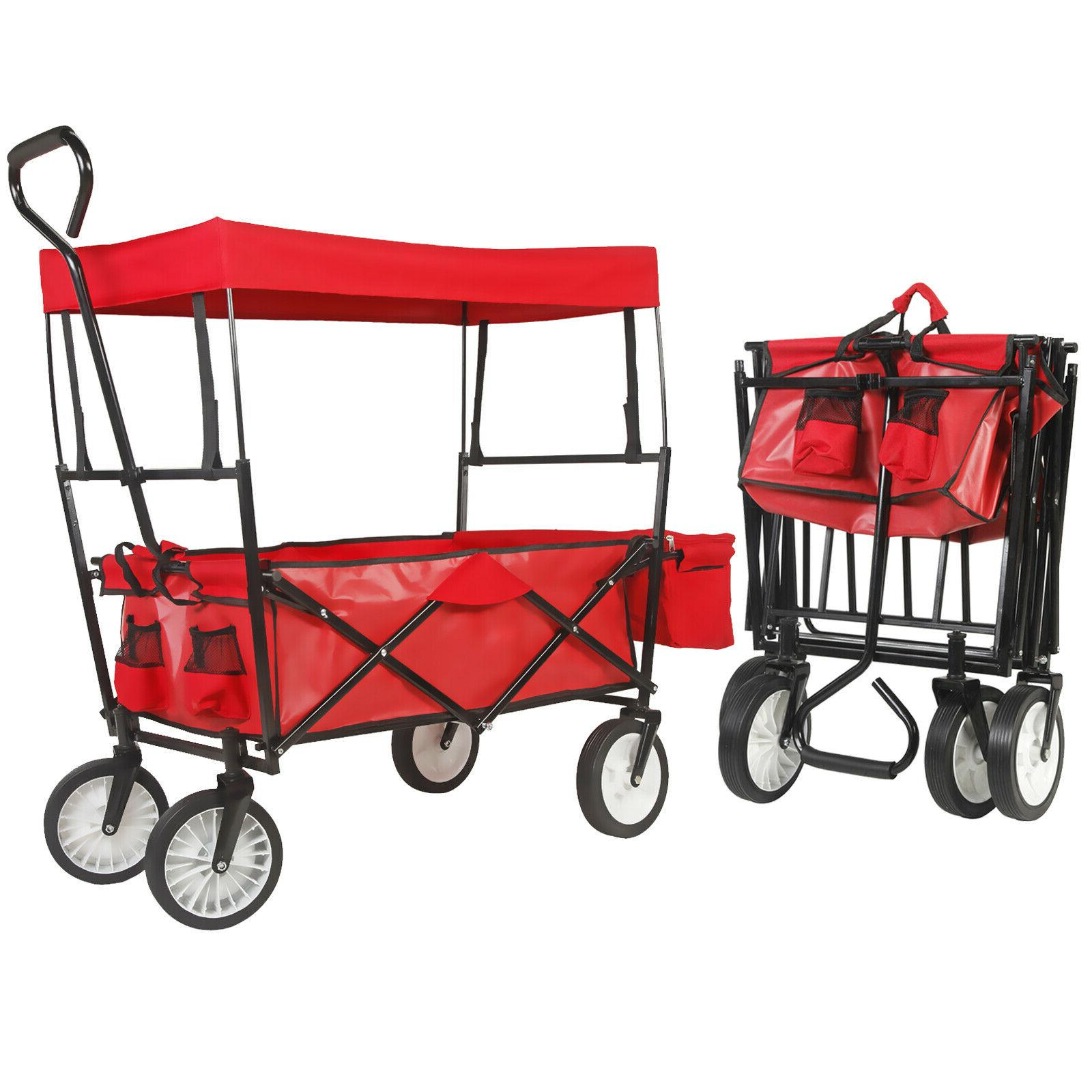 collapsible folding garden outdoor camping utility wagon