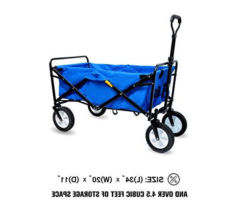 """WHITSUNDAY Garden Outdoor Picnic Wagon 8"""" Wheel with"""