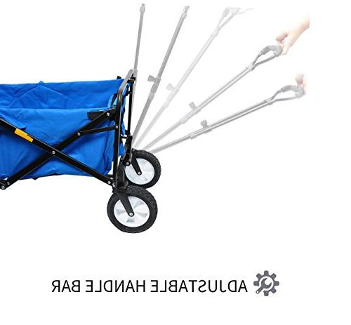 """WHITSUNDAY Folding Outdoor Park Utility Picnic 8"""" Wheel with Replaceable Cover"""