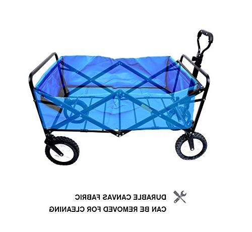 "WHITSUNDAY Collapsible Folding Outdoor Park Picnic Wagon 8"" Wheel"