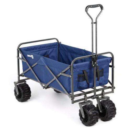 Collapsible Folding Wagon Beach Garden Portable Utility Load