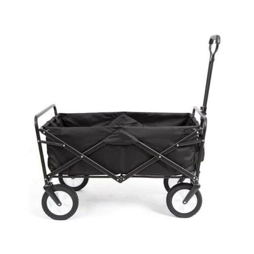 collapsible folding utility wagon dark