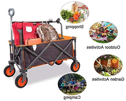 PORTAL Collapsible Utility Wagon Quad Garden up to Grey