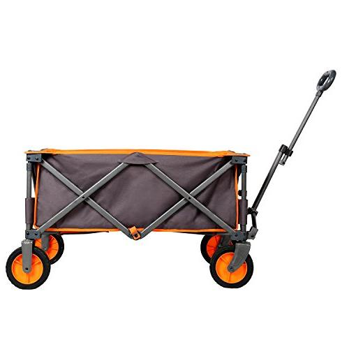 PORTAL Collapsible Folding Wagon Quad Garden Camping up to 225 Grey