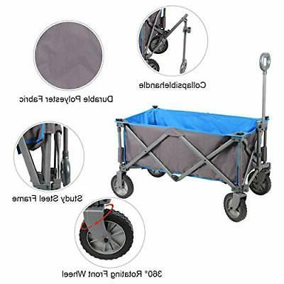 Collapsible Utility Quad Outdoor Garden Camping Cart