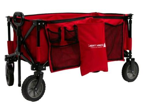 Collapsible Wagon Cart Outdoor Utility All Terrain