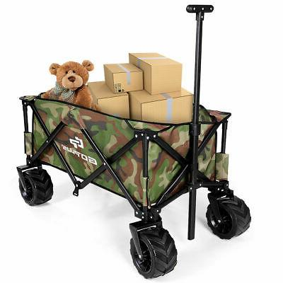 Outdoor Travel Collapsible Folding Wagon Cart Utility Trolle