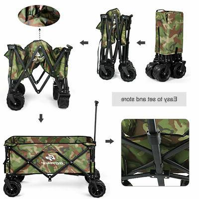 Outdoor Travel Collapsible Wagon Cart Utility Trolley Buggy