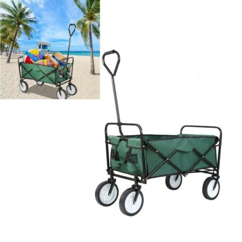 collapsible folding wagon cart outdoor utility garden