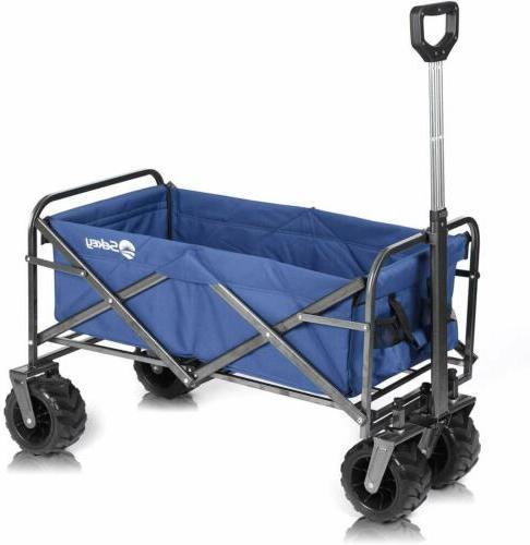 collapsible folding heavy duty wagon cart beach