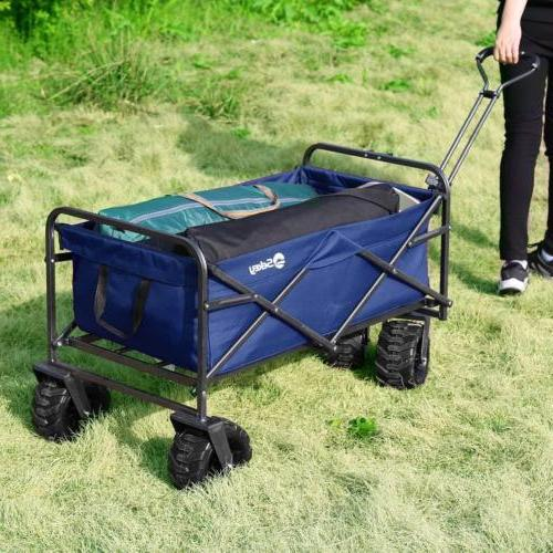 Collapsible Folding Wagon Cart Beach Garden Yard Portable Ut