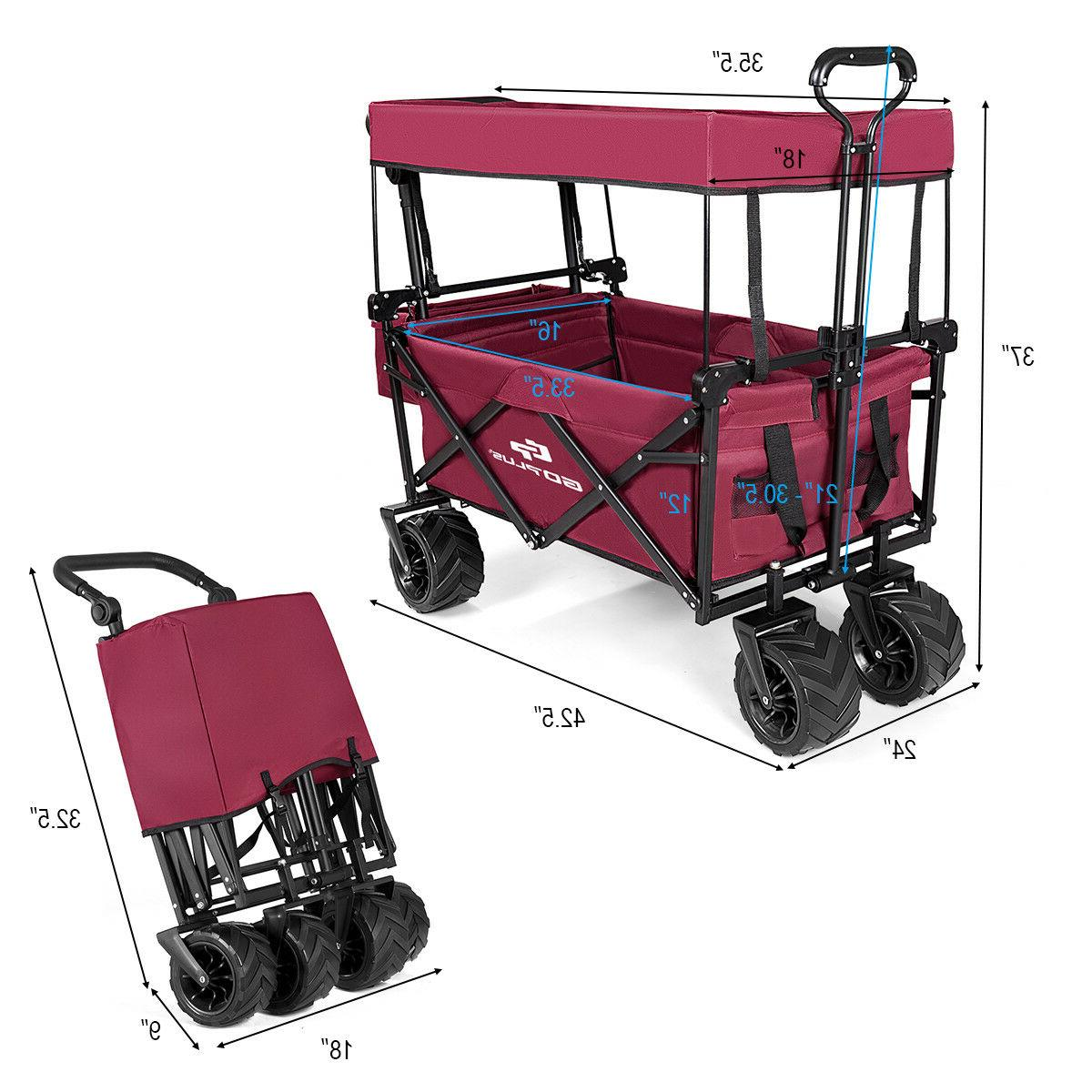 Collapsible Cart W/ Canopy Garden