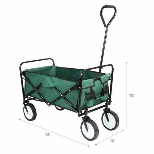 Collapsible Outdoor Utility Garden Trolley Shopping 165lbs