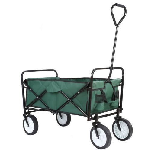 Collapsible Utility Wagon Cart Folding Shopping