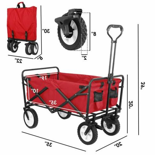 Heavy Duty Collapsible Folding Wagon Utility Outdoor Camping