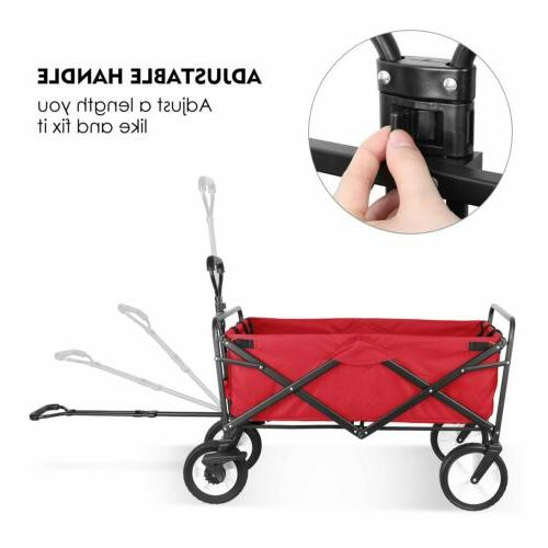 Collapsible Outdoor Utility Wagon Duty Safe Cart US