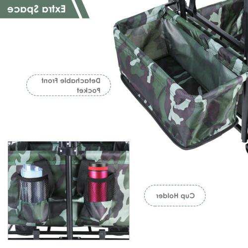 Collapsible Utility All-Terrain Folding Cart Removable Canopy