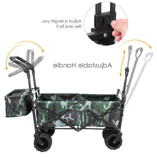 Collapsible Wagon All-Terrain Folding Removable Canopy