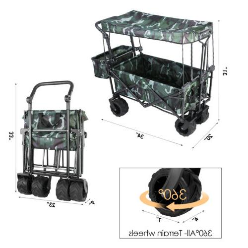 Collapsible Outdoor Wagon All-Terrain Canopy