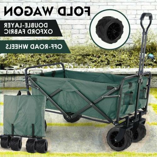 Collapsible Wagon Cart Folding Camping Trolley Garden Utilit