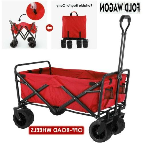 collapsible outdoor utility wagon heavy duty folding