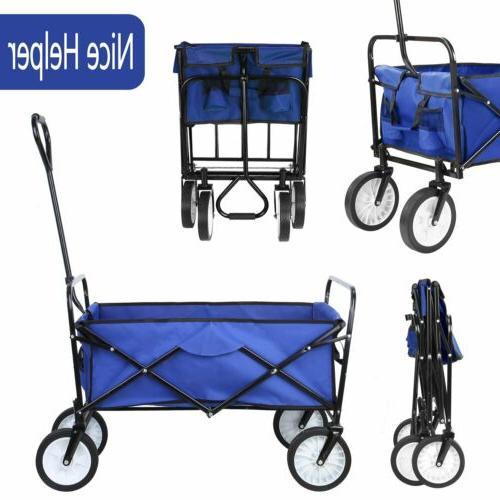 collapsible outdoor wagon cart folding garden beach