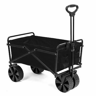 collapsible steel frame folding utility beach wagon