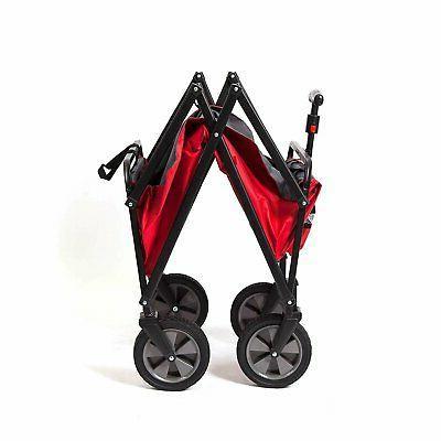 Seina Folding Utility Wagon Garden Cart,