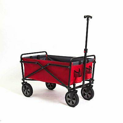 collapsible steel frame folding utility wagon outdoor