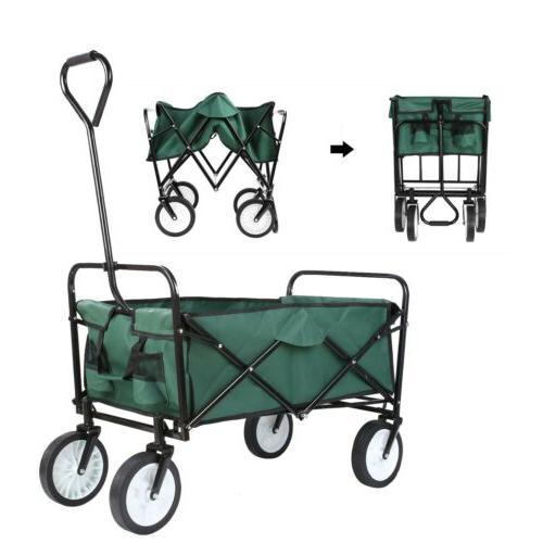 collapsible utility wagon cart folding push pull