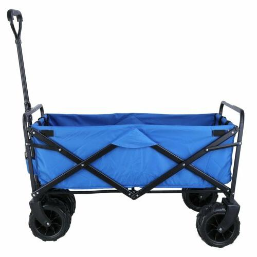 All Terrain Tire Collapsible Pull Push Heavy Duty Cart