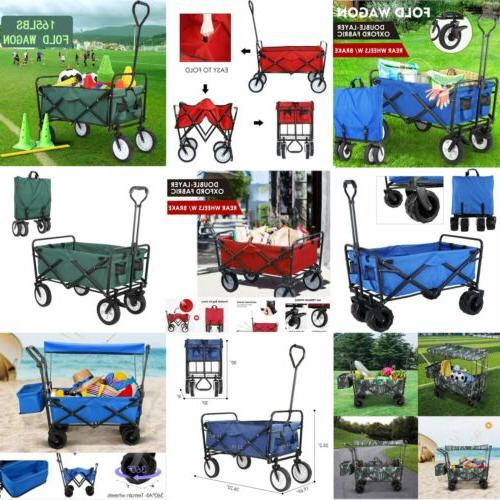 collapsible wagon cart utility durable portable large